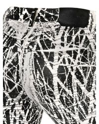 Proenza Schouler - White Twig Print Stretch Cotton Skinny Jeans - Lyst