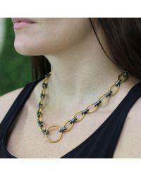 Yossi Harari Metallic Rachel Diamond Link Necklace