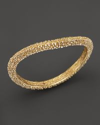 Roberto Coin - Metallic 18K Yellow Gold Plated Sterling Silver Stingray Wave Bangle - Lyst