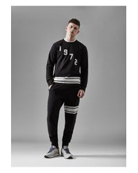 French Connection Black Fcuk Fear Hit Harder Slim Joggers for men