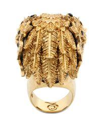 Alexander McQueen | Black Skull Owlet Ring | Lyst