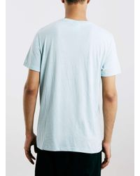 TOPMAN Green Blue Alaska Print Vintage T-shirt for men