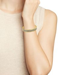 kate spade new york - Black Rule The Roost Hinge Idiom Bangle - Lyst