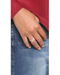 Elizabeth and James Metallic Windrose Pave Ring - Gold