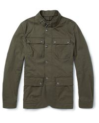 Belstaff | Green Atworth Cottonblend Twill Jacket for Men | Lyst