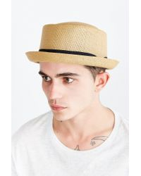 Urban Outfitters - Brown Straw Porkpie Hat for Men - Lyst