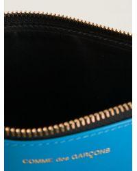 Comme des Garçons - Blue 'super Fluo' Zip Purse - Lyst