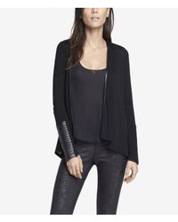 Express - Black Minus The Leather Trim Coverup - Lyst