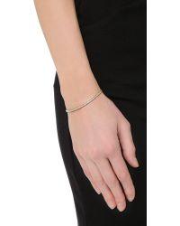 Michael Kors Metallic Pave Bar Slider Bracelet - Gold