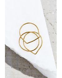 Urban Outfitters | Metallic 18k Gold Plated Layering Ring Set | Lyst
