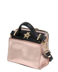 Giancarlo Petriglia | Pink Mini Clary Metallic Elaphe Shoulder Bag | Lyst