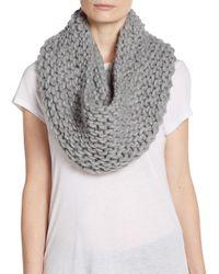 Modena Gray Knit Infinity Scarf
