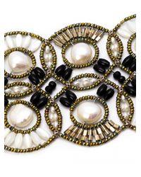 Ziio White Cosmic Large Multi-beaded Bracelet
