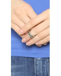 House of Harlow 1960 | Metallic Shakti Midi Ring Stack - Silver Multi | Lyst