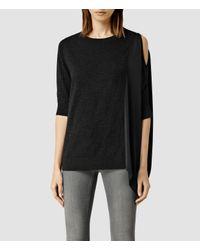 AllSaints - Gray Argo Sweater - Lyst