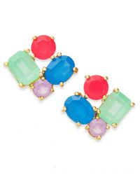 kate spade new york | Multicolor Gold-tone Cluster Stud Earrings | Lyst