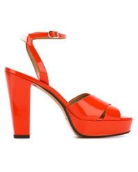 Sonia Rykiel Orange Platform Sandals