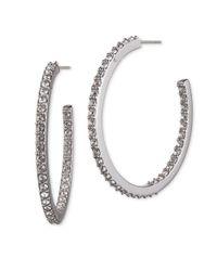 Judith Jack | Metallic Pave Hoop Earrings | Lyst