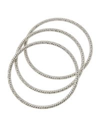 Lydell NYC | Metallic Textured Silvertone Stacking Bracelets | Lyst