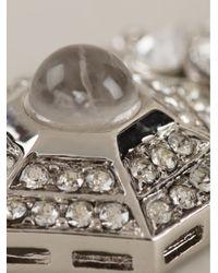 Roberto Cavalli | Metallic Dropped Geometric Earrings | Lyst