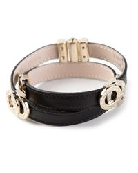 BVLGARI | Black Wrap Around Bracelet | Lyst