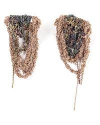 Arielle De Pinto | Multicolor Cascading Bundle Chain Earrings | Lyst