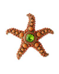 Kenneth Jay Lane | Pink Coral Starfish Brooch | Lyst