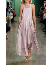 Tibi Pink Rose Overall Dress