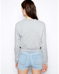 Cheap Monday | Gray Cut Out Waist Sweatshirt | Lyst