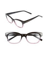 kate spade new york Black 'amilia' 50mm Reading Glasses