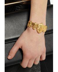 Harlot & Bones - Metallic Gold-plated Shield Cuff - Lyst