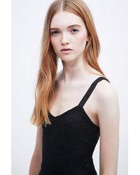 Free People Flocked Velvet Flare Dress In Black