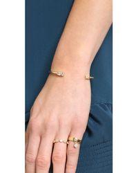 Elizabeth and James Metallic Marisol Bangle Bracelet - Gold/Clear