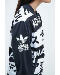 Adidas Typo Tracksuit Top In Black And White