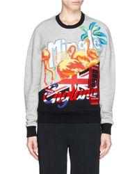 3.1 Phillip Lim Gray Tourist Logo Embroidery Sweatshirt