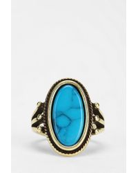 Urban Outfitters | Blue Oval Turquoise Ring | Lyst