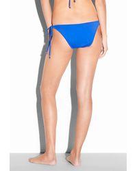 MILLY - Blue Solid Biarritz String Bikiini Bottom - Lyst