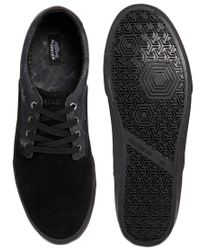 Pull&Bear Black Plimsolls with Contrast Bleach Print for men