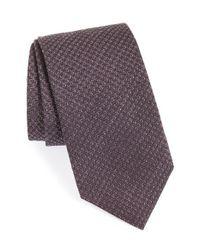 David Donahue - Purple Herringbone Tie for Men - Lyst