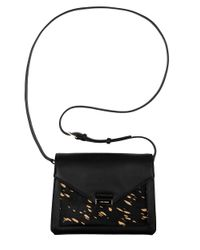 Cole Haan | Black Amalia Calf Hair And Leather Envelope Crossbody Bag | Lyst