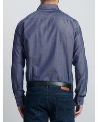 BOSS Blue Boss Ridley Slim Fit Chambray Shirt for men