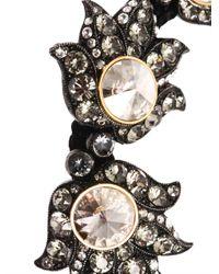 Lanvin Black Blanche Crystal Bracelet
