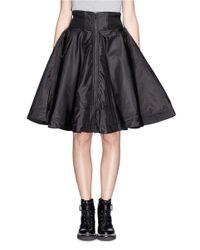 KTZ Black Bomber Flare Skirt