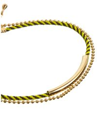 ASOS - Yellow Limited Edition Cord Bar Bracelet - Lyst
