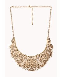 Forever 21 | Metallic Antiqued Cutout Filigree Necklace | Lyst