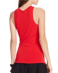 Lauren by Ralph Lauren   Red Jersey V-neck Tank   Lyst