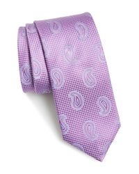John W. Nordstrom | Purple 'evans' Paisley Silk Tie for Men | Lyst