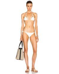 Adriana Degreas White Tulle Triangle Bikini