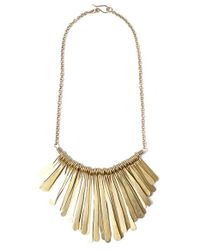 Soko | Metallic Fringe Chain Necklace - Brass | Lyst