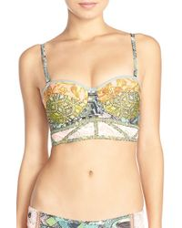 Maaji - Green 'laurie' Underwire Bustier Bikini Top - Lyst